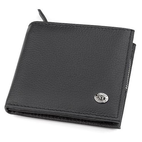 Мужской кошелек ST Leather 18343 (ST154) Черный