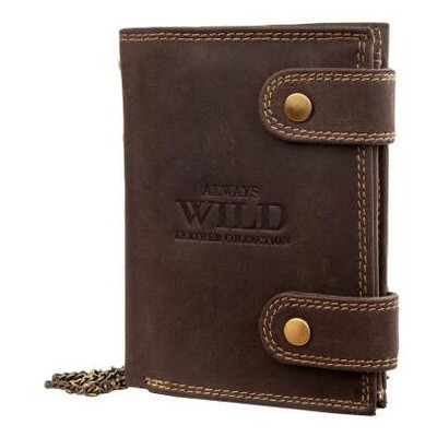 Кошелек мужской кожаный Always Wild DNK2901BIG-brown