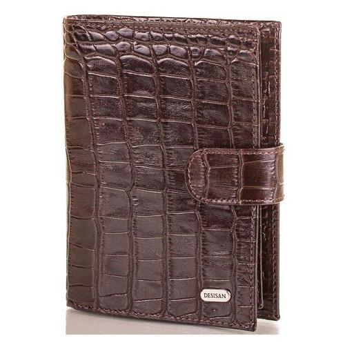 Мужской кожаный кошелек с органайзером для документов Desisan SHI072