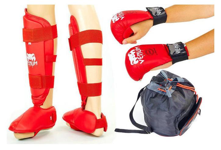 Комплект защиты для карате Venum BO-5078R красный размер S