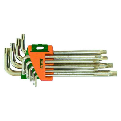 Ключи Grad TORX T10-T50мм 9шт CrV средние с отверстием (4022285)