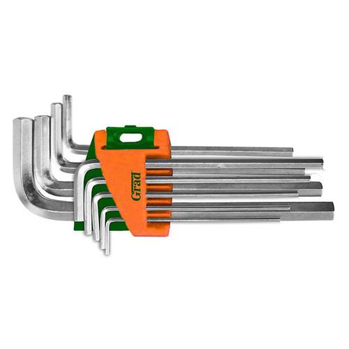 Ключи Grad шестигранные 1.5-10мм 9шт CrV средние (4022085)