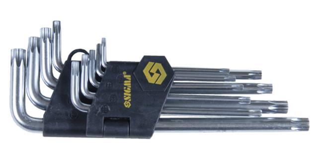 Ключи Sigma Torx 9шт T10-T50мм CrV (средние с отвер) (4022221)