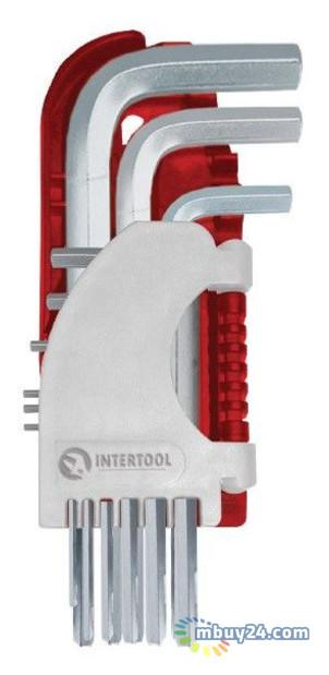 Набор Г-образных шестигранных ключей 9шт., 1.5-10 мм, S2, PROF Intertool HT-1803
