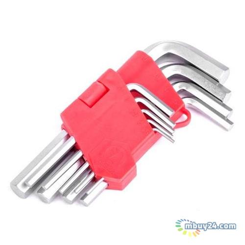 Набор Г-образных шестигранных ключей 9 шт Intertool HT-0601