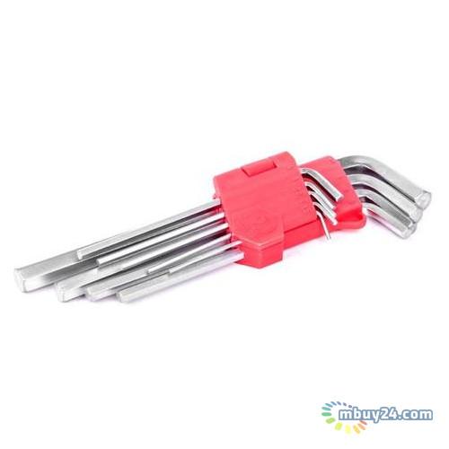 Набор Г-образных шестигранных удлинённых ключей 9 шт Intertool HT-0602
