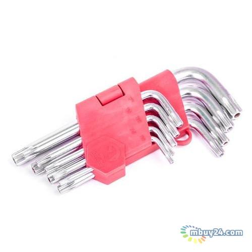 Набор Г-образных ключей TORX с отверстием 9 шт Intertool HT-0604