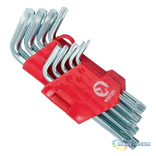 Набор Г-образных ключей Torx 9 шт Intertool HT-0607