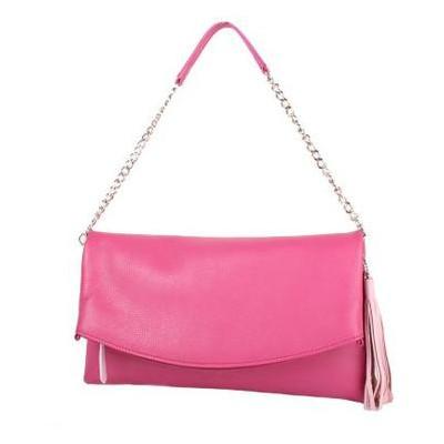 Женская кожаная сумка Laskara LK-DS259-raspbery