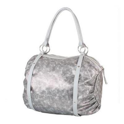 Женская повседневно-дорожная сумка из качественного кожезаменителя Laskara LK-10251-silver-snake