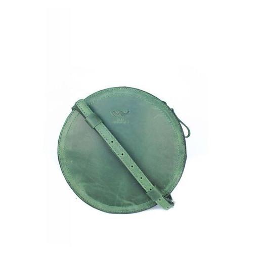 Женская кожаная сумка The Wings Amy S зеленая винтажная (TW-Amy-small-green-crz)