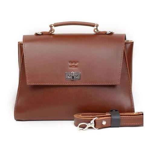 Женская кожаная сумка The Wings Classic светло-коричневая (TW-Classic-kon-ksr)