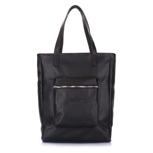 Кожаная сумка Poolparty Spirit Черный (spirit-black)