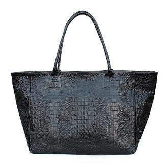 Кожаная сумка POOLPARTY Desire (poolparty-desire-croco-black)