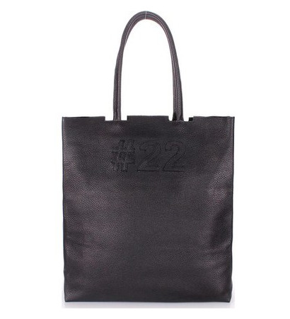 Кожаная сумка POOLPARTY #22 (leather-number-22-black)