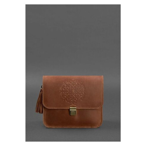 Кожаная женская бохо-сумка Лилу светло-коричневая Crazy Horse BlankNote (BN-BAG-3-k-kr)