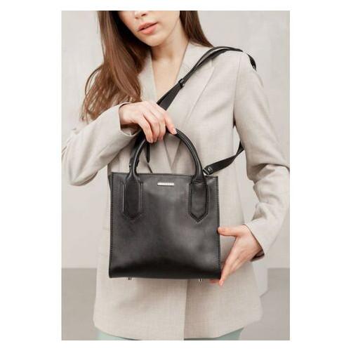 Кожаная женская сумка-кроссбоди черная BlankNote (BN-BAG-28-g)