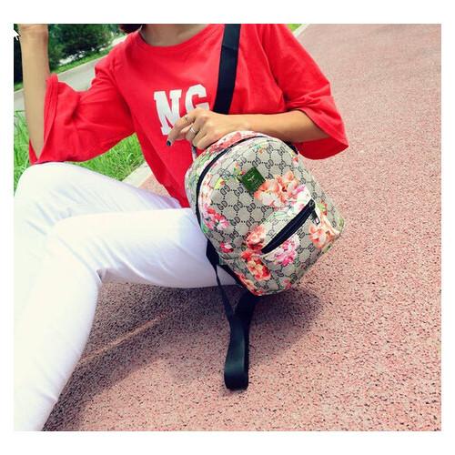 Городской рюкзак с цветочным принтом (РК-111)
