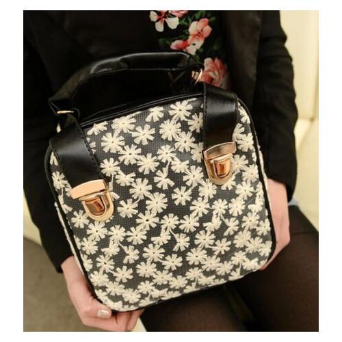 Модная сумка-рюкзак в ромашку (РК-022)