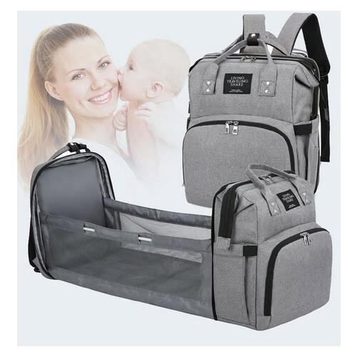 Оригинальный сумка-рюкзак для мам с термокарманами и манежом (РК-635)