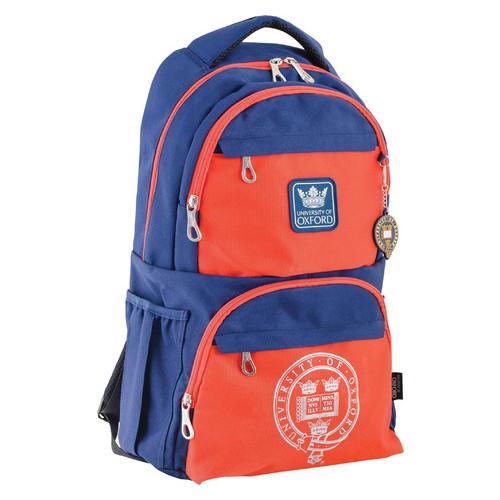 Рюкзак подростковый 1 Вересня OX 233 сине-оранжевый 31*46*17 OXFORD (554013)