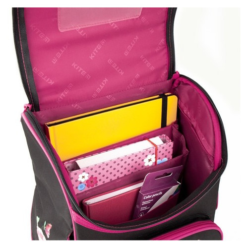 Школьный черный рюкзак Kite Education Hello Kitty для девочек 11,5 л (hk20-501s)