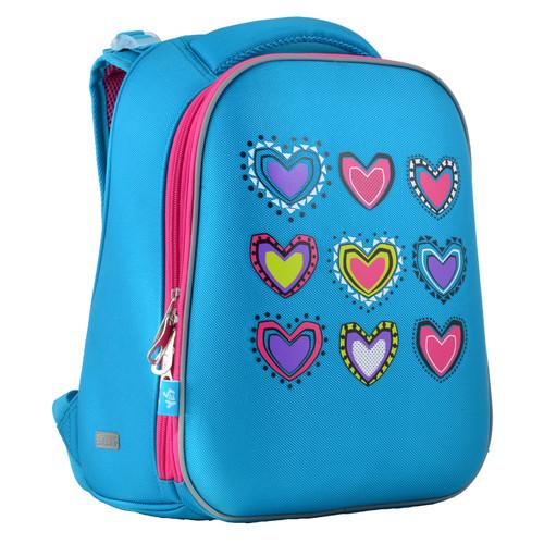 Рюкзак каркасный Yes H-12-1 Hearts turquoise (554490)