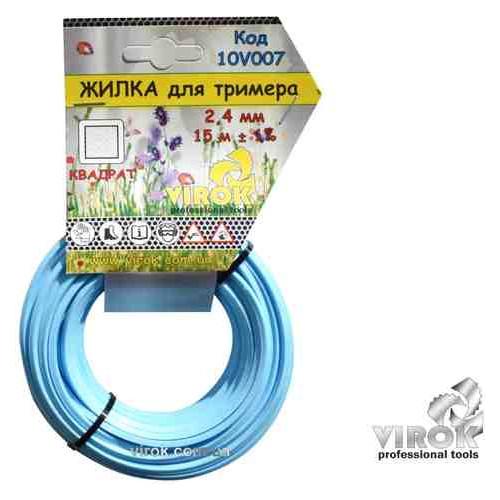 Леска для триммера Квадрат TM Virok 2.4 мм x 15 м