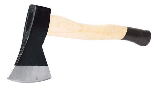 Топор с деревянной ручкой гикори 600гр Miol 33-075