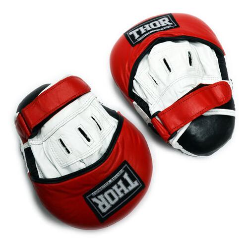 Лапы боксерские Thor 820 (PU) Black/Red/White