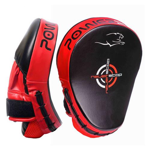 Лапы боксерские PowerPlay 3041 PU Черно-красные