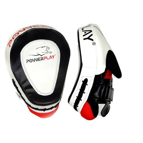 Лапы боксерские PowerPlay 3042 PU Черно-белые