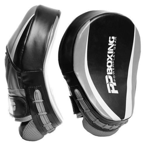 Лапы боксерские PowerPlay 3050 PU Черно-Cерые
