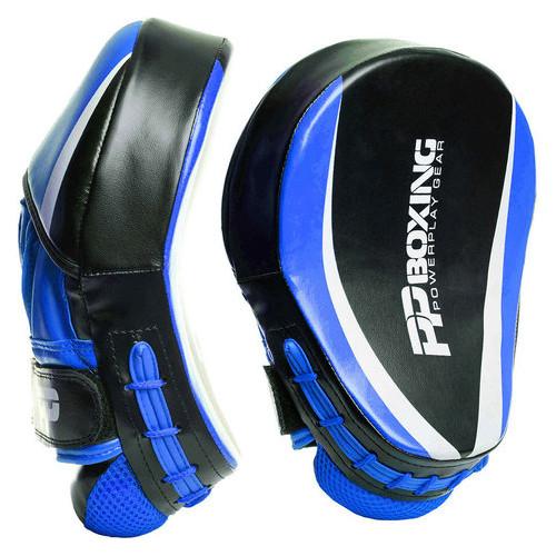 Лапы боксерские PowerPlay 3050 PU Черно-Синие