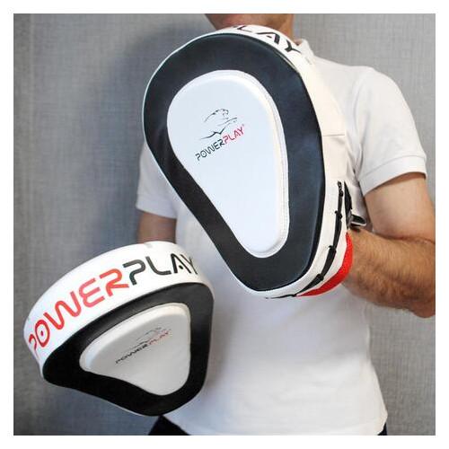 Лапы боксерские PowerPlay 3042 Черно-белый PU [пара] (FO83PP_3042)
