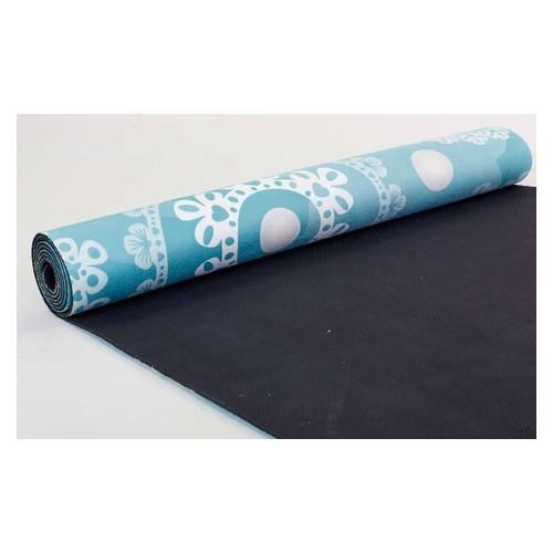Коврик для йоги Record Замшевый каучуковый двухслойный 183 см x 61 см x 0.3 см FI-5662-21