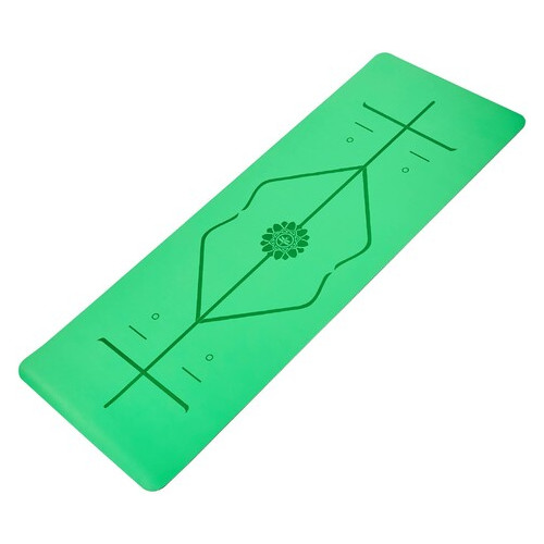 Коврик для йоги с разметкой Record Зеленый (FI-8307-2)