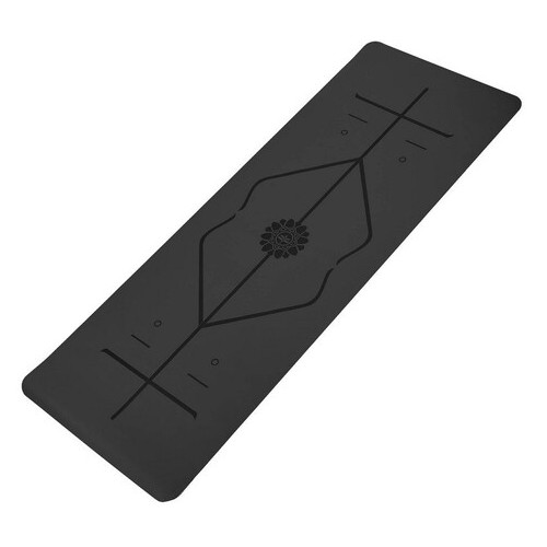 Коврик для йоги с разметкой Record Черный (FI-8307-1)