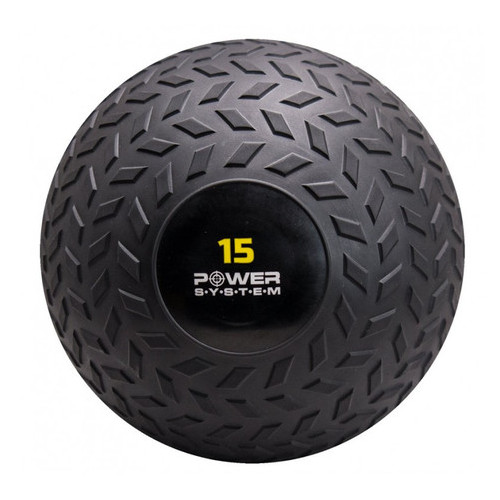 Мяч Power System SlamBall для кросфита и фитнеса PS-4117 15кг рифленый