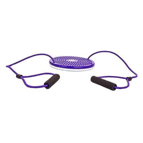 Диск здоровья с эспандерами Zelart Zel TWISTER PS FI-708 Фиолетовый (56363006)