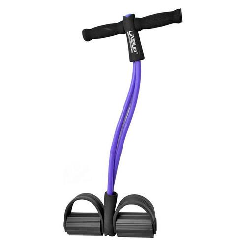 Эспандер с упорами для ног LiveUp Soft Pull Purple (LS3205)