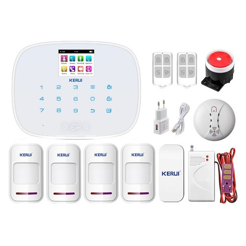 Комплект сигнализации Kerui security G19 Pro для 3-комнатной квартиры, белая