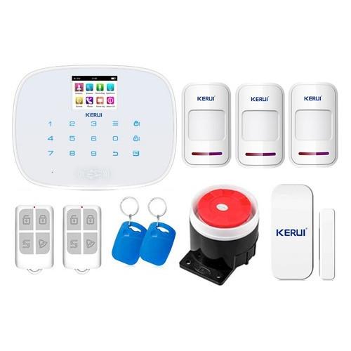 Комплект сигнализации Kerui security G19 для 2-комнатной квартиры, белая