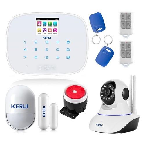 Комплект сигнализации Kerui security G19 с Wi-Fi IP-камерой, белая